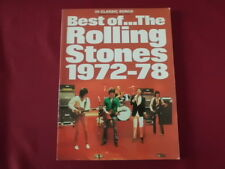 Rolling Stones - Best of 1972-1978  . Songbook Piano Vocal Guitar PVG