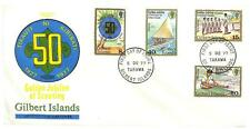 GILBERT ISLAND BOY SCOUTS SCOTT #304-07 GUTTER PAIR STAMP SET & FDC MNH 1977