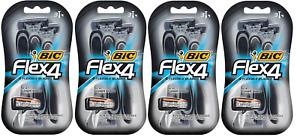 BIC Flex 4 Men's 4 Blade Disposable Razors, 3 Count (4 Pack)