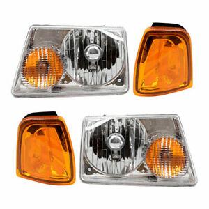 FIT FOR FD RANGER 2001 2002 2003 2004 2005 HEADLIGHT & CORNER LAMP RIGHT & LEFT
