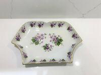 Gloria Bavaria Bayreuth Vintage Fine Porcelain serving plate tray violet flowers