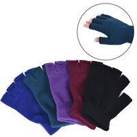 1 Pair Soft Half Fingerless Gloves Women Men Warm Knitted Mittens Couple R