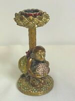 Edgar Berebi Monkey Jeweled Enamel Candlestick Holder Retired MSRP $380