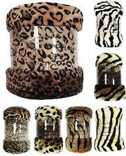 Animal Skin Luxury Faux Fur Throws Super Soft Warm Sofa & Bed Fleece Blankets GC
