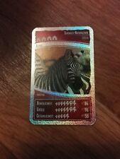 Zebra Nr.45 - Ozeanien 4 - Sammelkarten - Netto - Glitzerkarte Gold Karte