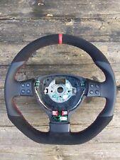 VOLANTE In Pelle Adatto VW Golf 5 GTI R Line pollice obblighi MULTIFUNZIONE ALCANTARA