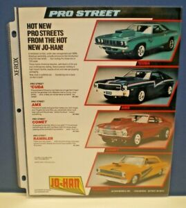 """JOHAN Original  """" PRO STREET"""" single sided color Dealer sales Flyer  L@@K!"""