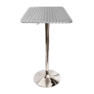 LumiSource Bistro Bar Table, Silver - BT-TLBISTRO23SQ