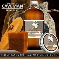 Caveman™ Beard Taming Kit Men Mustache Comb Barber Grooming Style Growth Oil