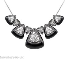Fashion Exquisite Vintage Necklace Classic Black Triangle Delicate Pendant Chain
