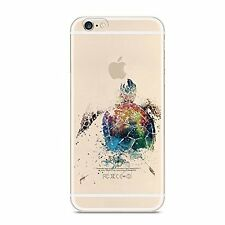 iPhone 7 Plus Case Shockproof Bumper Soft Silicone Cover Slim Clear sea turtle