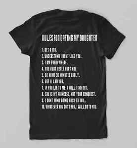 Rules For Dating My Daughter shirt t shirt Gift for Father S M L XL 2XL 3XL