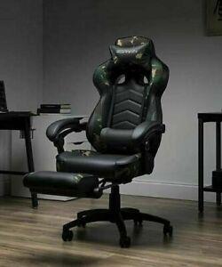 Erogonomic Camouflage Swivel Tilting Reclining Adjustable Height Gaming Chair