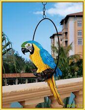 Garden Statue Ornament Indoor Outdoor Parrot Animal Sculpture Home Patio Decor
