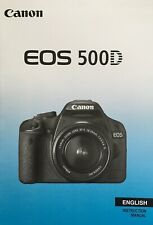 Canon EOS 500D Manual - Printed & Professionally Bound Size A5 - NEW 228 Pages