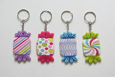 12 Candy Theme Metal Key Chains Kid Sweets Party Goody Loot Bag Favor Supply