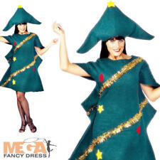 Christmas Tree Ladies Fancy Dress Xmas Festive Novelty  Party Costume Adult New