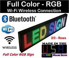 "LED Sign Full Color Programmable Bluetooth Wi-Fi Connection RGB LED Sign 27"" USA"