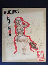 Carnet de croquis Sketchbook Buchet Comix Buro Num et signé  ETAT NEUF
