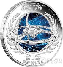 DEEP SPACE NINE Space Station Star Trek Series Silver Coin 1$ Tuvalu 2015