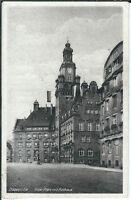 Ansichtskarte Döbeln in Sachsen - Roter Platz mit Rathaus - schwarz/weiß