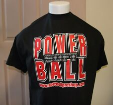 SOFTBALL- T-SHIRT= POWERBALL SOFTBALL LARGE  T-SHIRT HANES BEEFY T