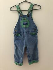 Vintage OshKosh Baby B'Gosh  6-9 M Vestbak Overalls Made In USA Blue Wild West
