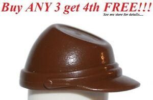 ☀️NEW Lego Minifig Classic Brown CAVALRY CAP Kepi StarWars Imperial Pilot Hat