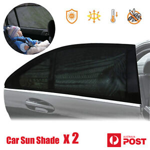 2x Car Side Rear Curved Window Sun Shade Mesh for Baby Kid Pet UV Protection
