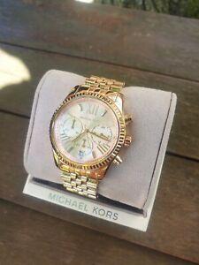 Damen Armband Uhr Michael Kors Mk 5569 Lexington Rose Gold Chronograph
