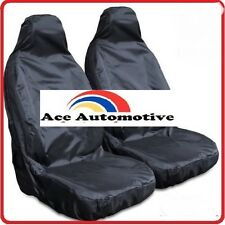 TOYOTA COROLLA 02-07 FRONT BLACK WATERPROOF CAR SEAT COVERS 1+1