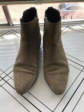 ISABEL MARANT ETOILE 'Patsha' Tan Camel Suede Leather Ankle Boots La Garconne 40