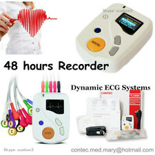 CE 48 Hours Dynamic ECG Holter EKG Machine 12 Channel Recorder + PC Software USB