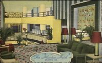 Atlanta GA Atlantan Hotel Interior NICE LINEN Postcard