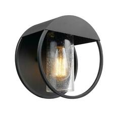 Globe Electric Neruda Matte Black Outdoor Indoor Wall Lantern Sconce