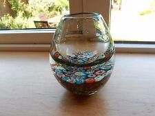 Murano Glass Millefiori Vase - Unusual - Look !