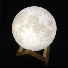 3D Printing Luna Moon Lamp USB LED Night Lights Touch Sensor Color Changing Gift