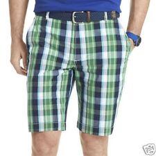IZOD Plaid Poplin Shorts New Msrp $50.00 Size 36 Blue Grotto