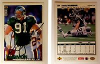 Andy Harmon Signed 1995 Collector's Choice #264 Card Philadelphia Eagles Auto