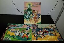 Paint By Number RARE SET Wizard Of Oz Alice In Wonderland Pleasure Island VTG