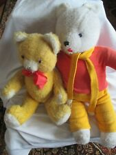 Vintage Pedigree Teddy Bear Jointed & Rupert The Bear Made in Ireland