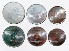 India 50 paise 1 2  rupee set of 3 coins steel coin