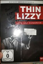 Thin Lizzy signed Live & Dangerous  By Phil's mother Philomena 2003