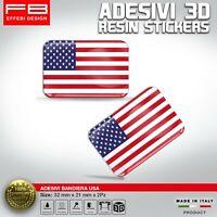 Adesivi Stickers 3D USA AMERICA FLAG AUTO MOTO CASCO CELLULARE GADGET RESINATI
