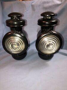 Pair Of Model T Ford Vintage Antique Kerosene Cowl Lights Lamps 1916 1917 1918