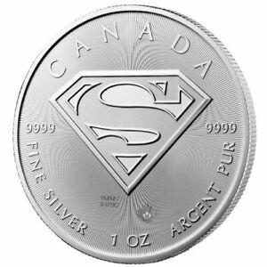 2016 Superman –Royal Canadian Mint – 1 Troy Ounce .9999 Silver Coin