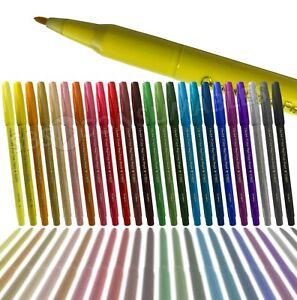 Pentel Colour Pen S360 Fibre Tip 1.0mm Fine Felt Pen. 35 Colours. Graphics Pen