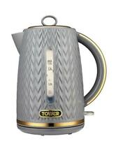 Tower Empire 1.7L Jug Kettle 3000W Textured Grey & Gold 1 year Guarantee