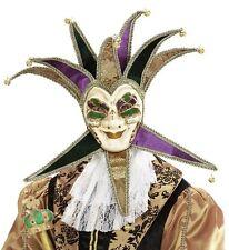 Deluxe Jolly Jester Venetian Masquerade Masked Ball Carnival Face Mask Fancy Dre