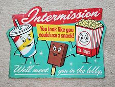 DRIVE IN MOVIE pop corn Intermission Theater  Cinema Vintage Style Signs coke